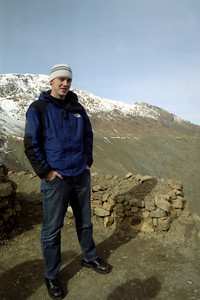 Rob in the snow - Morocco ... March 8, 2005 ... Photo by Heather Page