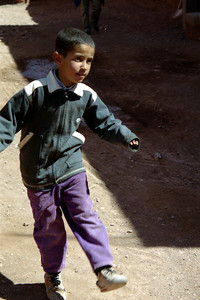 One of the little kids playing socceer with Rob and Pedro - Aït Ben Haddou, Morocco ... March 8, 2005 ... Photo by Heather Page