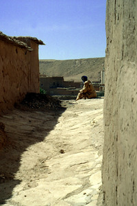 A local enjoying the sunshine - Aït Ben Haddou, Morocco ... March 8, 2005 ... Photo by Rob Page III