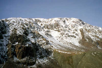 High up in the Atlas Mountains.  I didn't think I would see snow, let alone throw a snowball in Morocco - March 8, 2005 ... Photo by Rob Page III