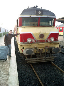 Modern trains comparable to Japan - Tangiers, Morocco ... March 11, 2005 ... Photo by Rob Page III