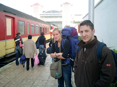 On the train platform - Tangiers, Morocco ... March 11, 2005 ... Photo by Rob Page III