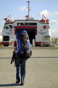 Rob heading to Africa - Tarifa, Spain ... March 6, 2005 ... Photo by Heather Page