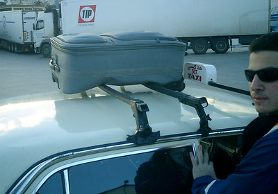 Some of our bags didn't fit inside the cab - Tangier, Morocco ... March 6, 2005 ... Photo by Rob Page III