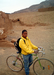 The bikes made hissing noises similar to a snake and would scare the camals - Zagora, Morocco ... March 9, 2005 ... Photo by Pedro Mendoza