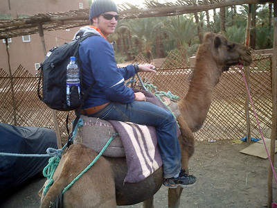 Is this better than trekking around with the crutches? - Zagora, Morocco ... March 8, 2005 ... Photo by Rob Page III