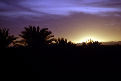 Sunset in the Sahara desert - Zagora, Morocco ... March 8, 2005 ... Photo by Rob Page III
