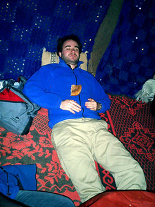 Azul Fuerte is a little worn out by the camals - Zagora, Morocco ... March 8, 2005 ... Photo by Rob Page III