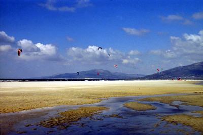Kite Surfing - Tarifa, Spain ... March 6, 2005 ... Photo by Heather Page