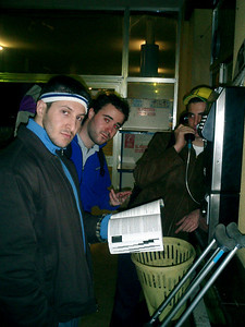 Figuring out where we are going to stay - Jerez, Spain ... March 5, 2005 ... Photo by Rob Page III