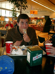 Pedro is enjoying his ice cream at the airport - Jerez, Spain ... March 12, 2005 ... Photo by Rob Page III