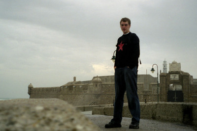 A self portrait on the causeway to the fort that protects Cadiz - Cadiz, Spain ... March 11, 2005 ... Photo by Rob Page III