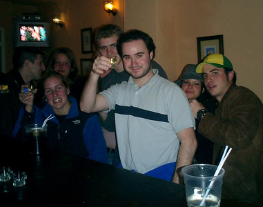 Free shots of Absynth from the bartender - Cadiz, Spain ... March 5, 2005 ... Photo by Rob Page III