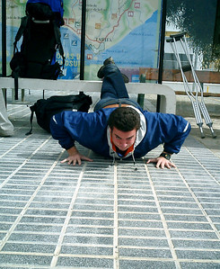You  can't forget to work out on vacation - Tarifa, Spain ... March 11, 2005 ... Photo by Rob Page III