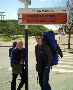 I think this town was made for Heather and Me - Tarifa, Spain ... March 6, 2005 ... Photo by Elliot MacDougall