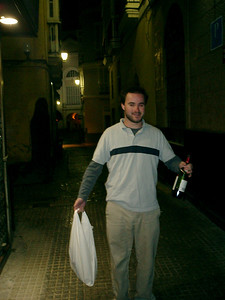 Elliot heading to botellon - Cadiz, Spain ... March 11, 2005 ... Photo by Rob Page III