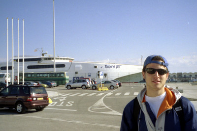Almost to Africa.  Just watch out for the ferry that is about to take out Pedro - Tarifa, Spain ... March 6, 2005 ... Photo by Rob Page III