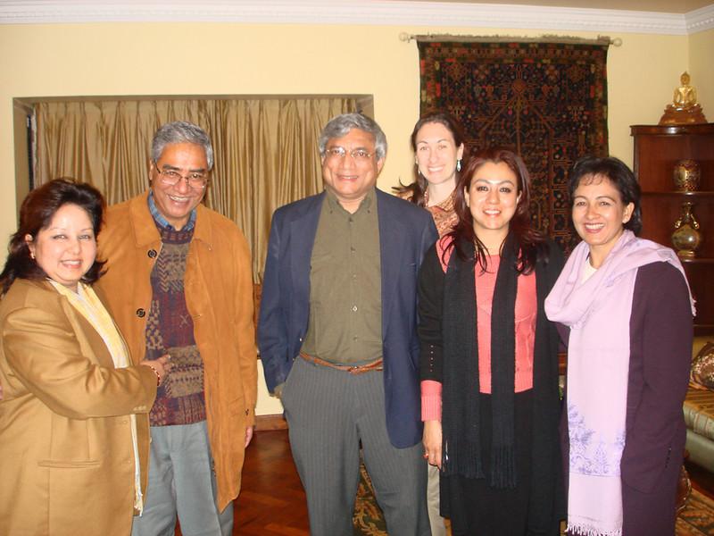 Dr. Arzu Deuba Rana, Ex-prime Minister Sher Bahadur Deuba, Dr. Pandu, Dawn Greensides, Bhawani Mishra Rana and Dr. Amreeta Regmi