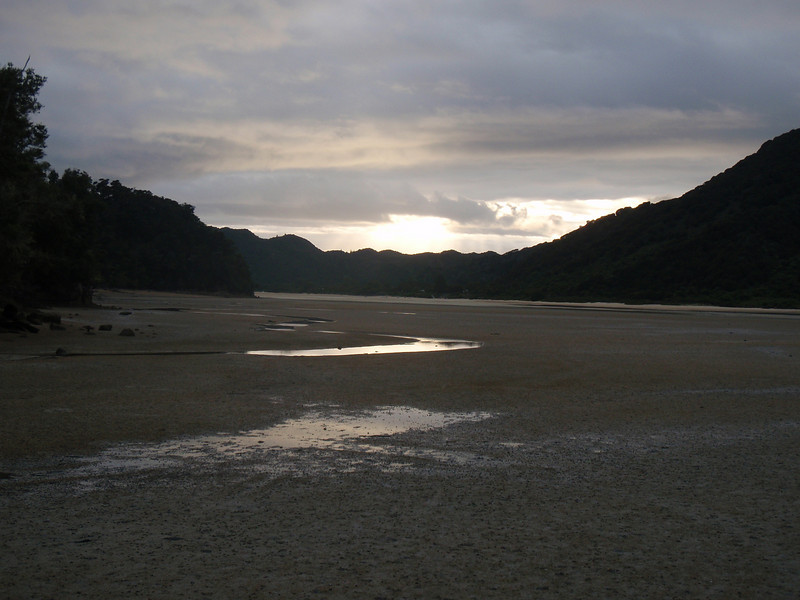 This was part of our trail and we had to cross it at low tide