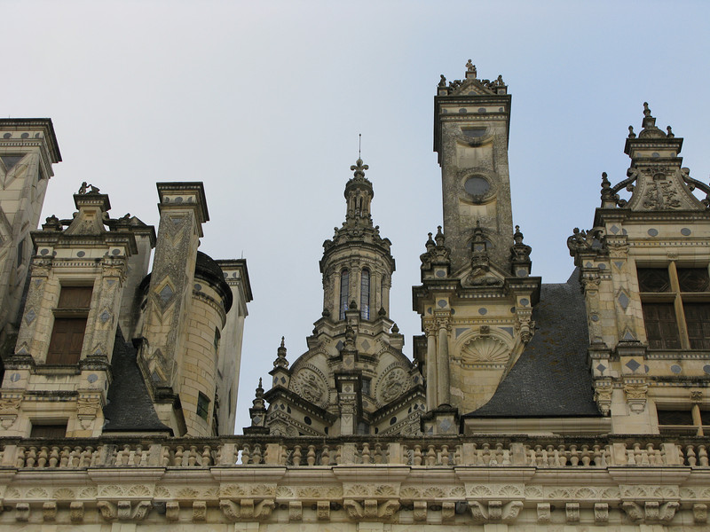 Upper details of the Chateau de Chambord