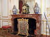 Fireplace and decorations at Chambord