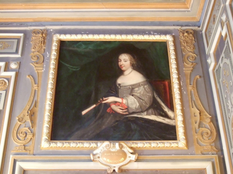 Painting of Madamoiselle de Montpensier at the Chateau de Cheverny
