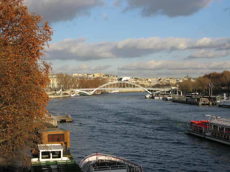 Looking down the Seine River