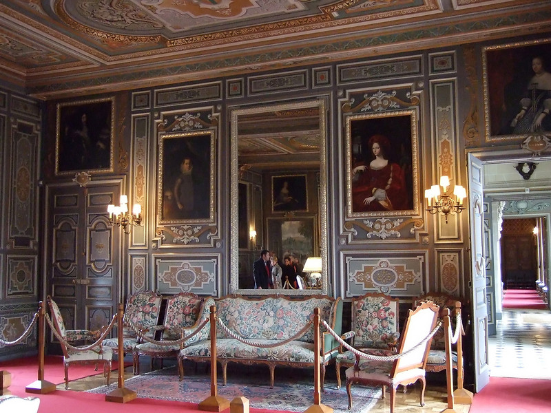 Sitting room at the Chateau de Cheverny