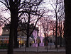 Sunrise along Champs Elysees