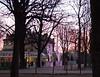 Sunrise along Champs Elysees
