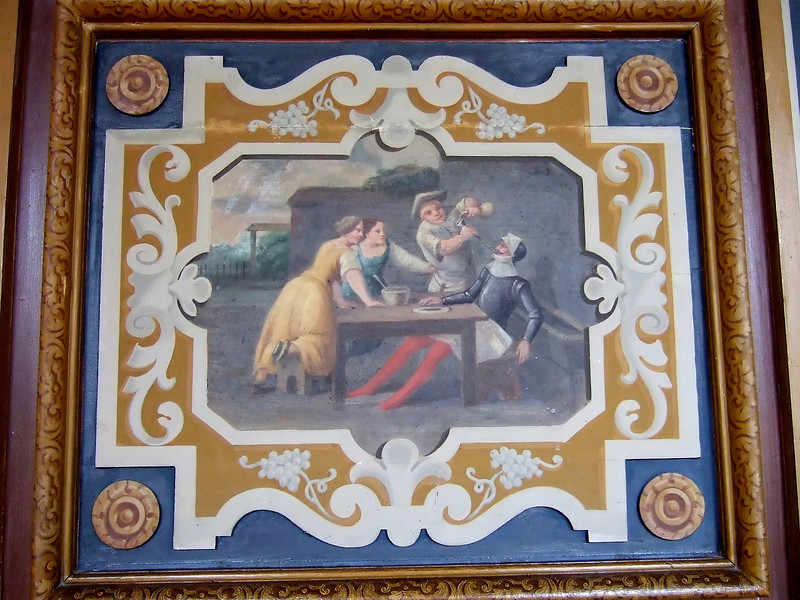 A painting at Cheverny