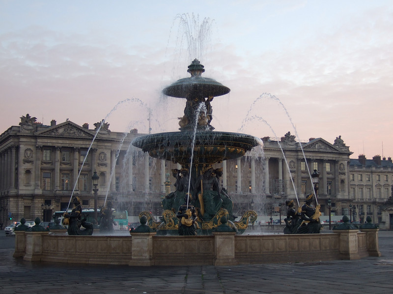 The Fountain at Sunrise