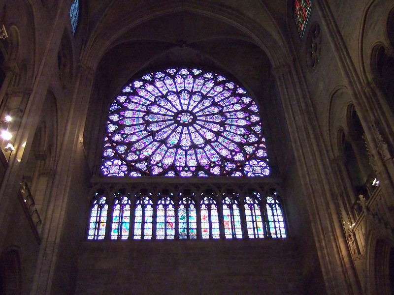 Stained Glass at Notre-Dame Cathedral