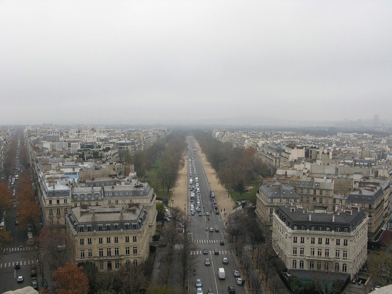 Avenue Foch from the top of the Arc de Triomphe