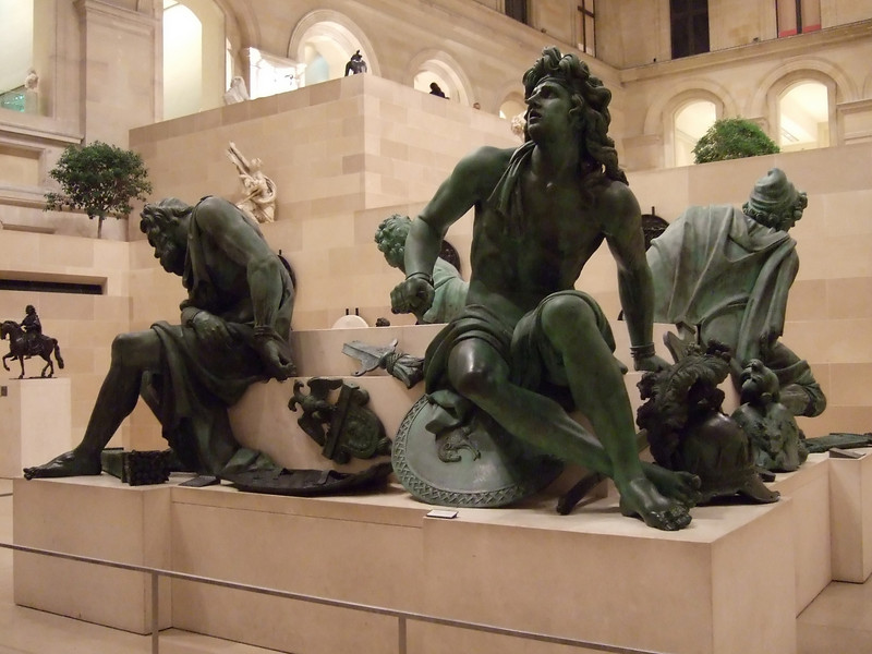 Statues at the Louvre