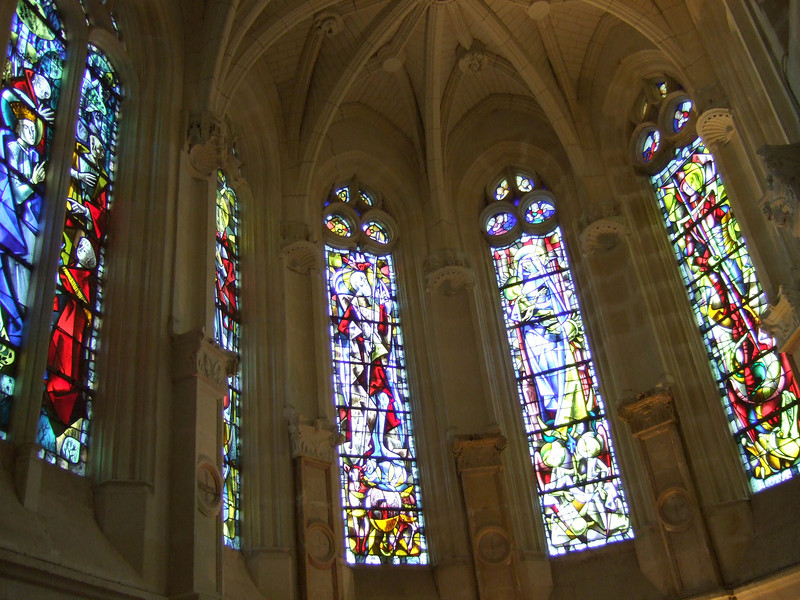Stained Glass at Chateau Chenonceau