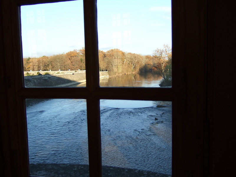 View down river from the Chateau Chenonceau Main Room