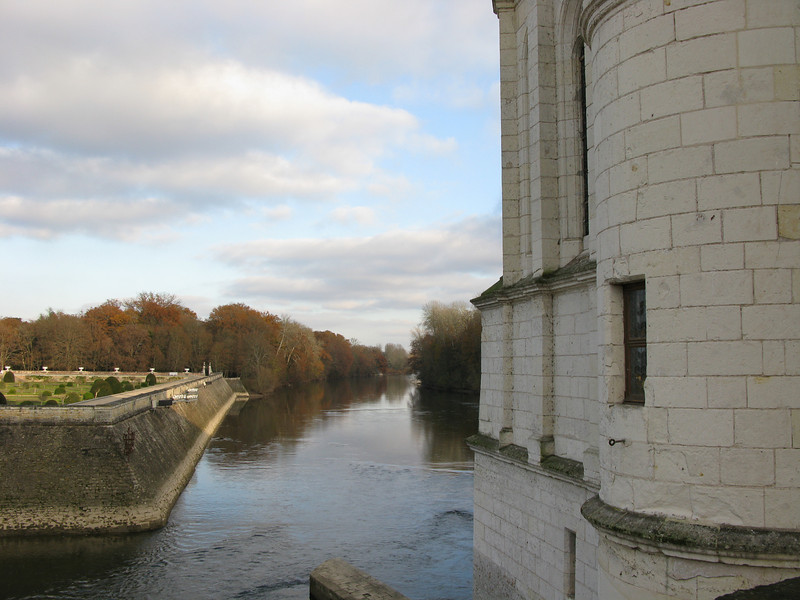 at Chateau Chenoneaux looking down the river