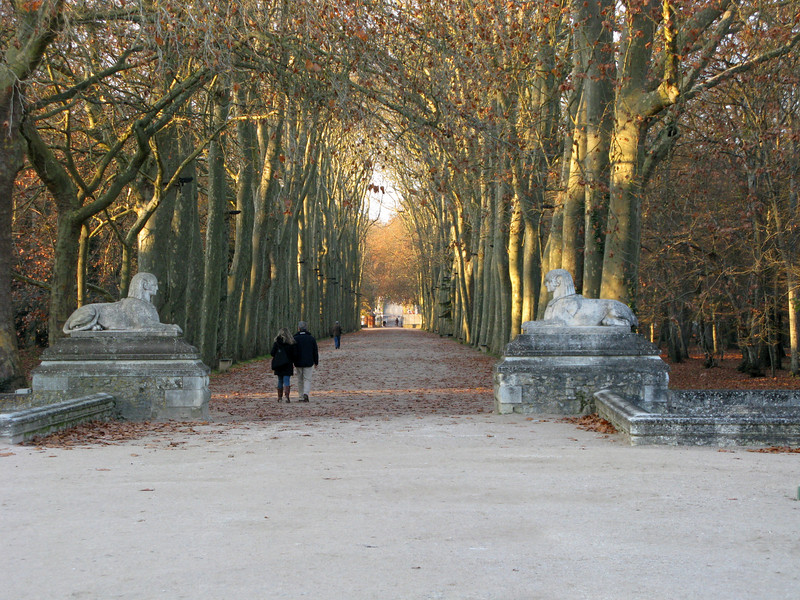 Walkway away from the Chateau