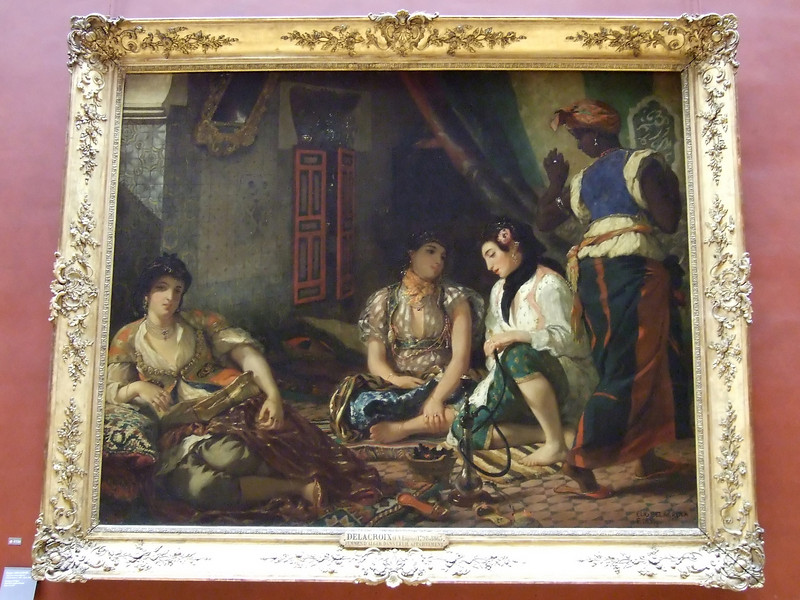 Painting by Delacroix at the Louvre