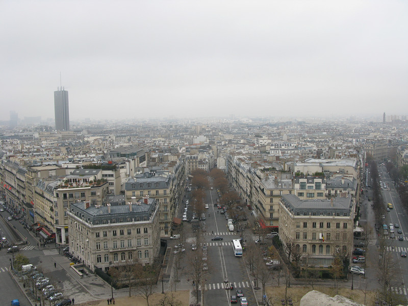 Avenue Carnot from the top of the Arch de Triomphe