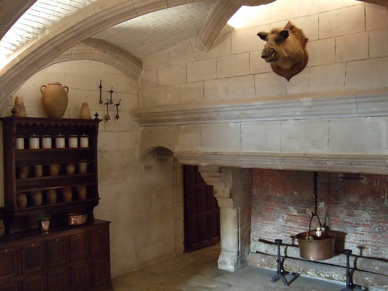 Kitchen area at Chateau Chemonceau
