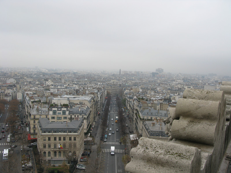 Avenue Mac Mahon from the top of the Arc de Triomphe