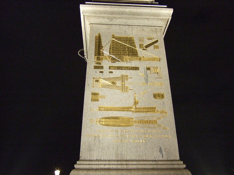 Base of the Obelisk at Night