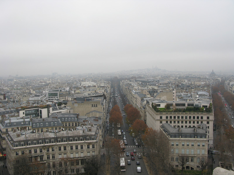 Avenue Hoche from the top of the Arc de Triomphe