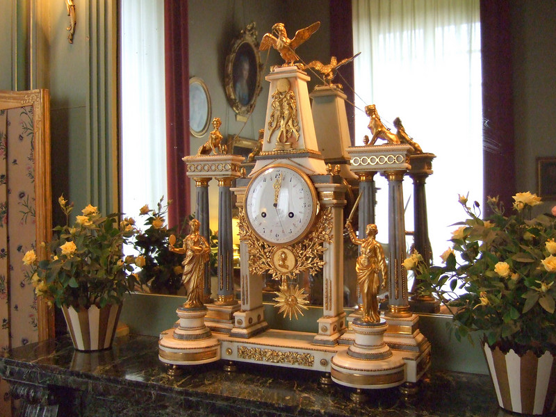 A special clock at Cheverny