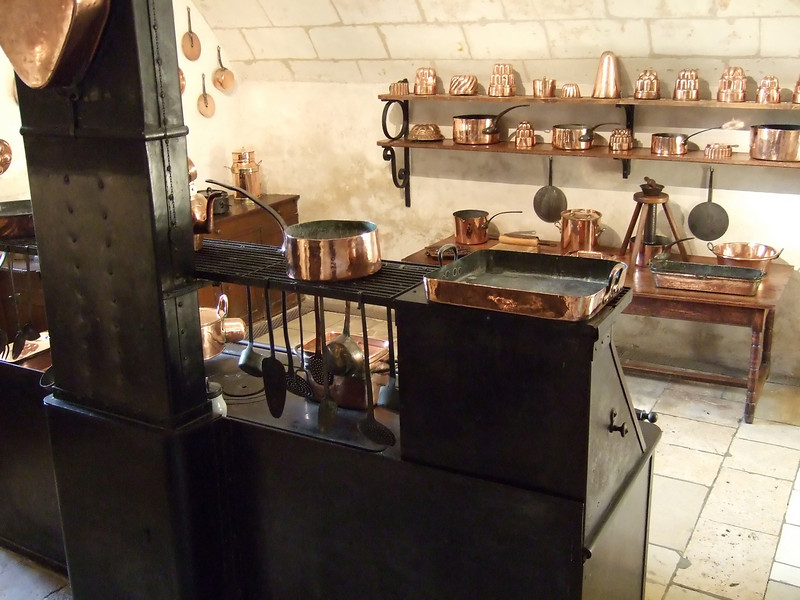 Kitchen area at Chateau Chenonceau