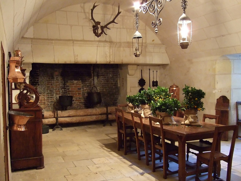 Kitchen dining at Chateau Chenonceau