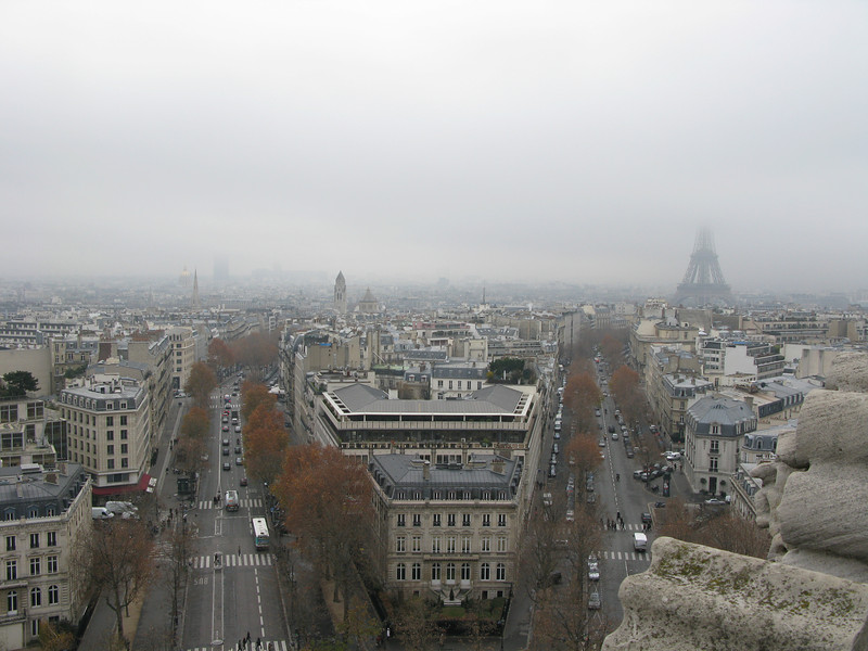 Avenue Marceau and Avenue D'iena (right) from the top of the Arc de Triomphe