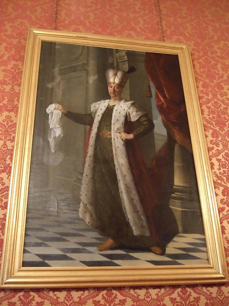Painting on display in the Chateau de Chambord